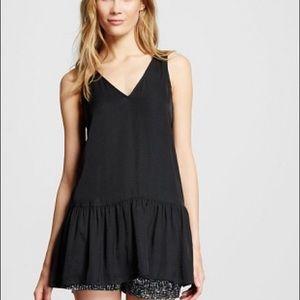 Target who what wear black tunic tank blouse M NWT